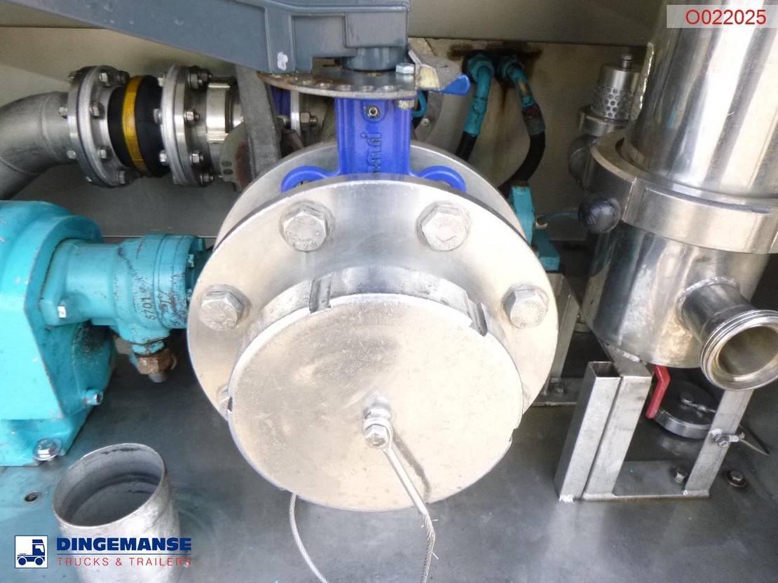 tankoplegger Burg Food tank inox 30.5 m3 / 3 comp + pump 1994