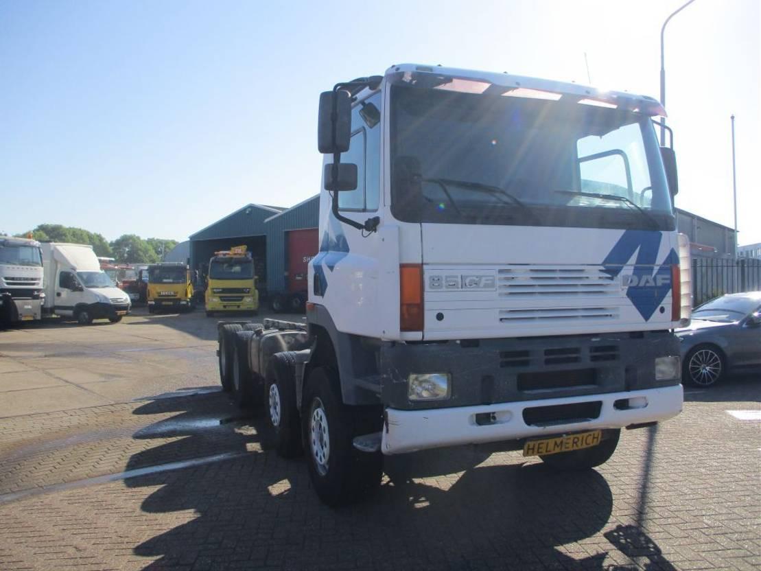 chassis cabine vrachtwagen DAF 85 CF 340 EURO 2 MANUALGEARBOX 12 TYRES FULLSTEELSUSPENSION 2000
