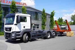 containersysteem vrachtwagen MAN TGS 28 HYDRODRIVE, NEW !, E6, 6x4x4, NEW SKIPPER 18T, lift a 2021
