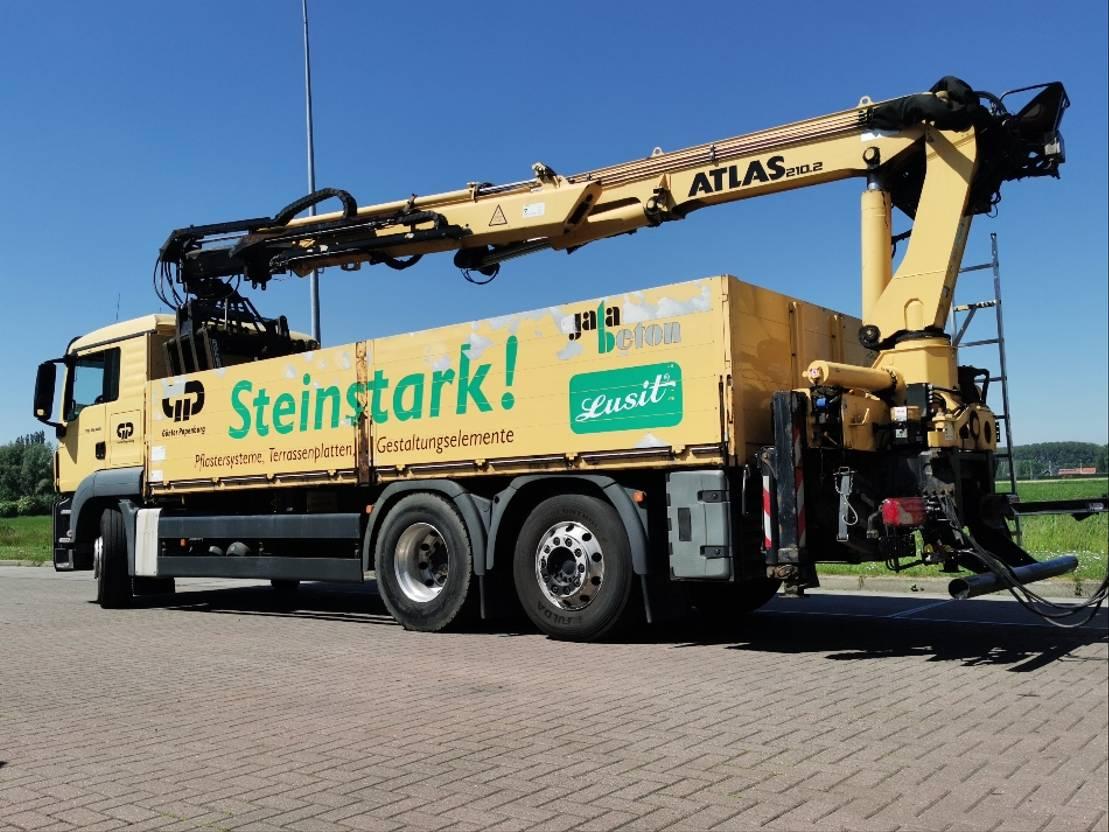 platform vrachtwagen MAN 26.400 atlas 210.2 2013