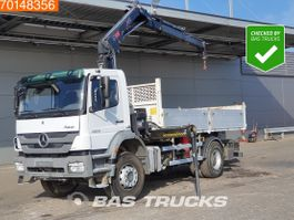 kipper vrachtwagen > 7.5 t Mercedes-Benz Axor 1829 4X2 Manual Big-Axle Euro 5 Hiab 122 BS-2 HIDUO 2011