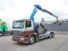 containersysteem vrachtwagen DAF CF 85 6x2/4 Euro 3 - HaakarmSysteem - HMF 1680 + Rotator en Knijper (2018) - b... 2004