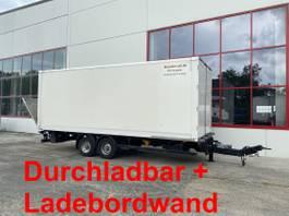 gesloten opbouw aanhanger Möslein TPS 105 D-L Tandem Koffer mit Ladebordwand + Durchladbar 2015