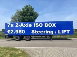 gesloten opbouw oplegger DRACO 7x 2-Axle islolated box / Taillift / NL Trailer 2001
