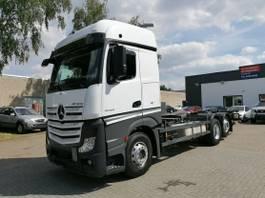 wissellaadbaksysteem vrachtwagen Mercedes-Benz Actros 6x4, BDF, BigSpace, Euro6, Retarder 2014