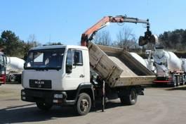 kipper vrachtwagen > 7.5 t MAN LE 180 C Kran Palfinger PK 6500 Greifer 2001