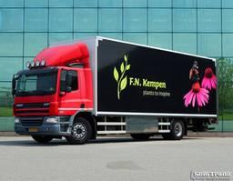 bakwagen vrachtwagen DAF CF 75 15 KARREN BAK  KACHEL  HARDHOUTEN VLOER GEISOLEERD 2012