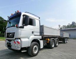 kipper vrachtwagen > 7.5 t MAN TGS 26 Dreiseitenkipper u. Reisch RTDK-18 2009