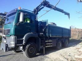 kipper vrachtwagen > 7.5 t MAN TGS 26 6x6 HIAB 144 BORDMATIK Kran Kipper 2008