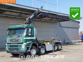 containersysteem vrachtwagen Volvo FM 8X2 Crane Hiab 220 C-5 Remote Manual Hubreduction Liftachse 2004