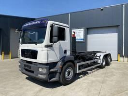containersysteem vrachtwagen MAN TGS 26.360 6X2 HAAKSYSTEEM SLECHTS 77564KM!!! 2011