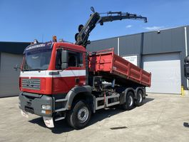 kipper vrachtwagen > 7.5 t MAN TGA 33.390 KIPPER+KRAAN HIAB 195-5
