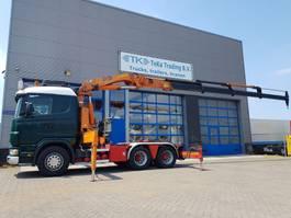 standaard trekker Scania R124 6x2 Crane HMF 3722 k4 2003