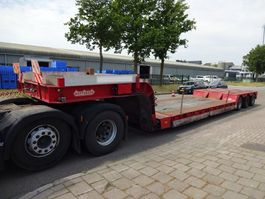 dieplader oplegger Nooteboom LOWBED - REMOVABLE NECK - EXTENDABLE - 3X STEERING AXLES 1985