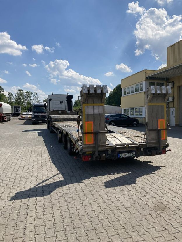 "semi dieplader oplegger Meusburger 3-Achs-Tele-Semi-Sattelauflieger ""RoadRunner"" Bau 2017"