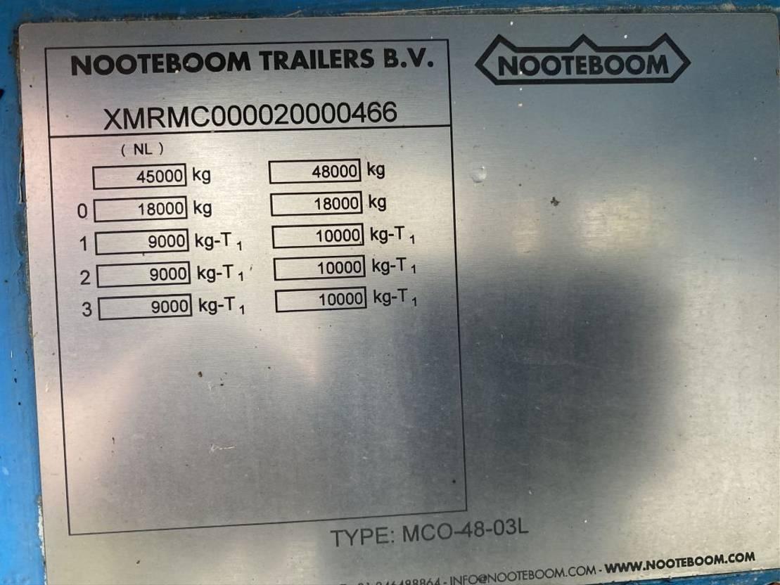 semi dieplader oplegger Nooteboom MCO-48-03L | 3 AXLE STEERING | DOUBLE RAMPS | 12 METER TOTAAL 2002