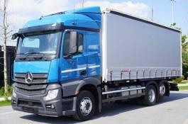 schuifzeil vrachtwagen Mercedes-Benz Actros , E6 , 6x2 , BDF , Tarpulin 18 EPAL , 2,55m height , 2016