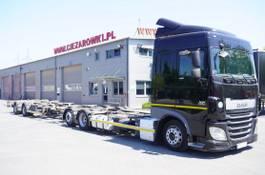 containersysteem vrachtwagen DAF XF SC , E6 , 6X2 , BDF + Wecon 2 axles trailer , BDF SET 2017