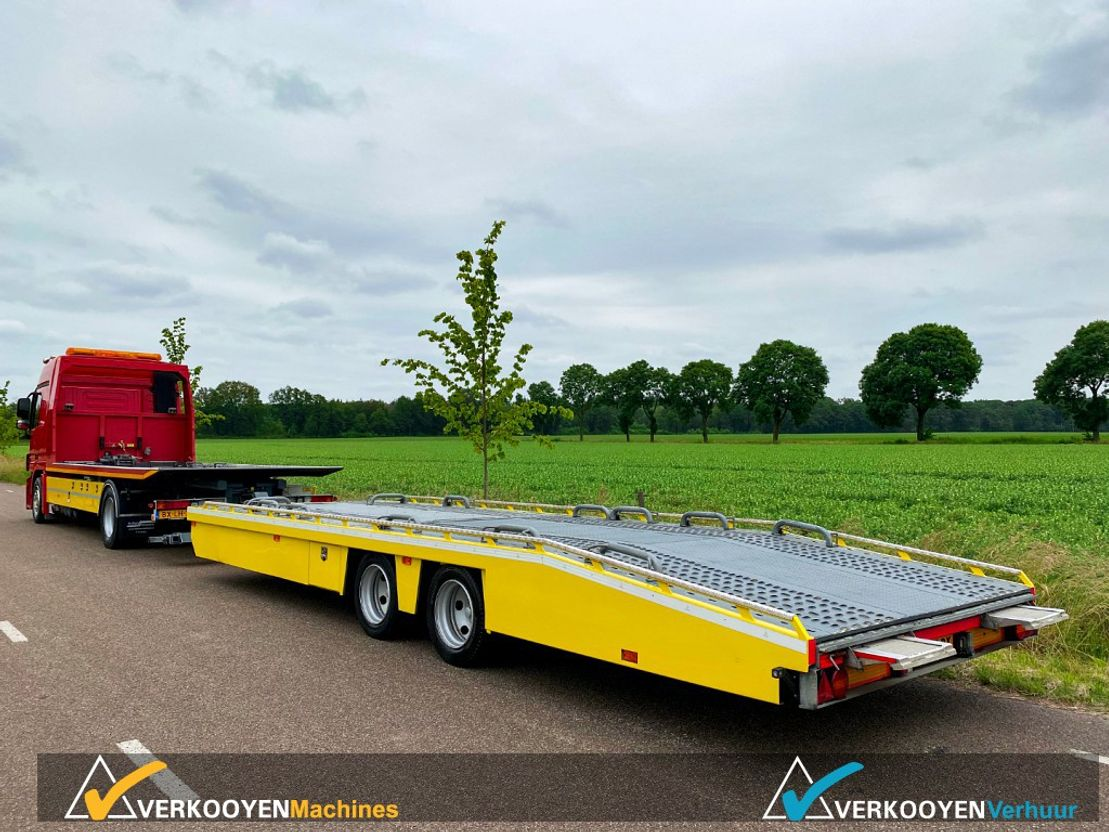 autotransporter vrachtwagen Mercedes-Benz Actros 1832 Autotransporter De Groot + Tijhof aanhangwagen 2010