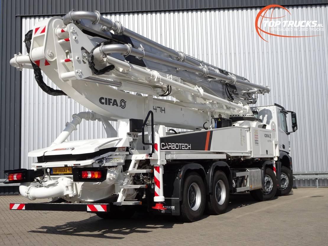betonpomp vrachtwagen Mercedes-Benz Arocs 3243 8x4 - 45mtr CIFA Betonpomp, Concreet, Betonpumpe - Euro 6 - Like new!! 2017