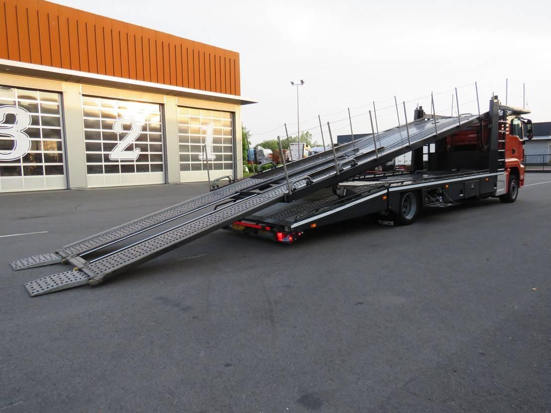 autotransporter vrachtwagen MAN 18.320 Met 5 lader Tijhof opbouw!!!!!! 2014