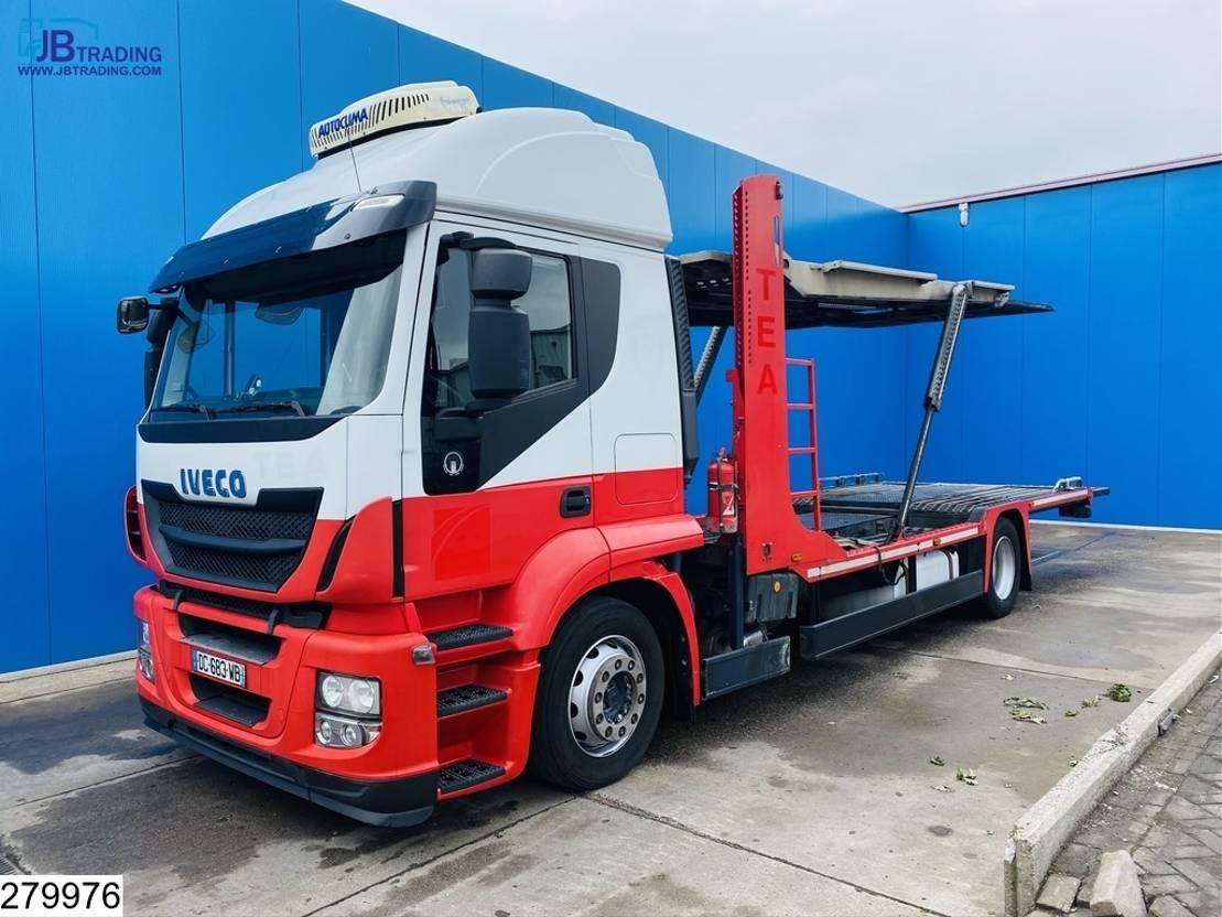 autotransporter vrachtwagen Iveco Stralis 420 AT, EURO 5 EEV, Retarder, Lohr, Multilohr 2014