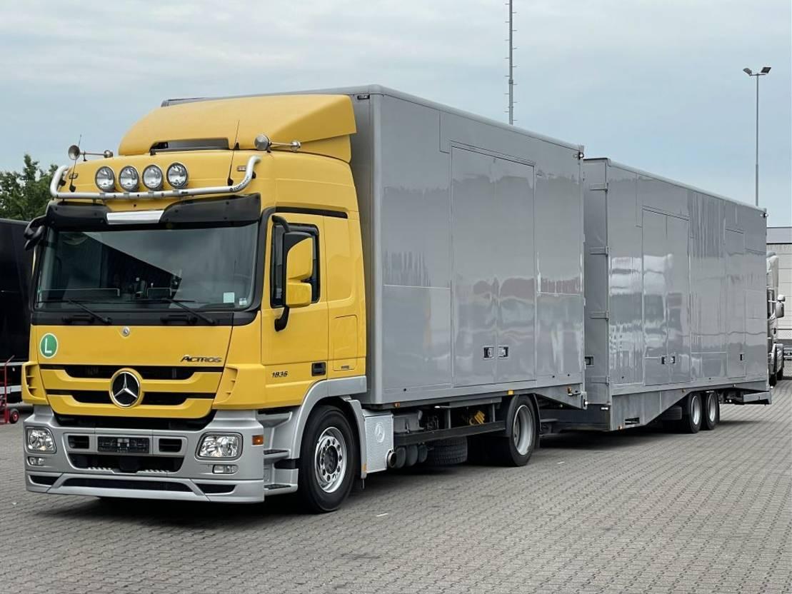 autotransporter vrachtwagen Mercedes-Benz Actros 1836 MERSCH AUTOTRANSPORTER 5 LADER 2011