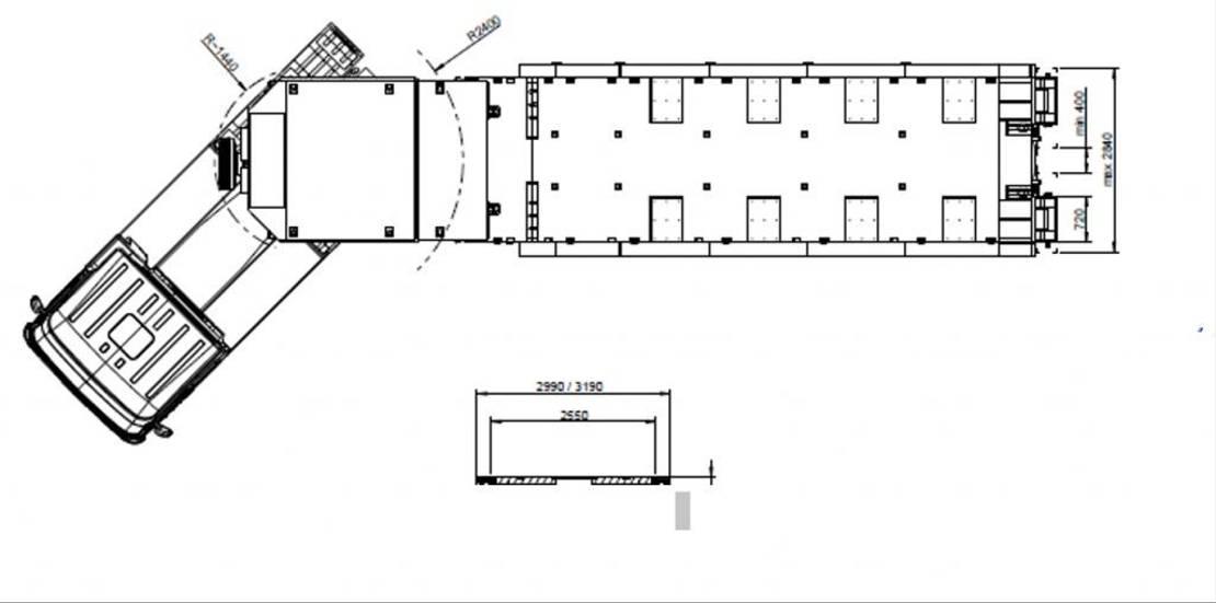 semi dieplader oplegger Goldhofer 4-Achs-Tele-Semi mit hydr. Rampen Typ MPA 4 2019