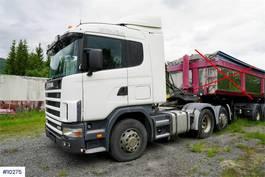 standaard trekker Scania 124G 400 6x2 truck with hydr. 1998