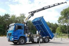 kipper vrachtwagen > 7.5 t MAN TGS 26 6x4x2 Palfinger PK 23002 Crane Kipper 2012