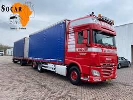 open laadbak vrachtwagen DAF XF 106 .460 6X2 + GS MEPPEL Aanhanger -> Pluimvee/Geflügel /Chicken transport 2014