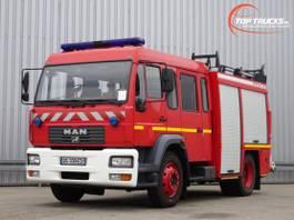 brandweerwagen vrachtwagen MAN L75 14.280 Doppelcabine - 3.000 ltr watertank - Feuerwehr, Fire brigade 2005