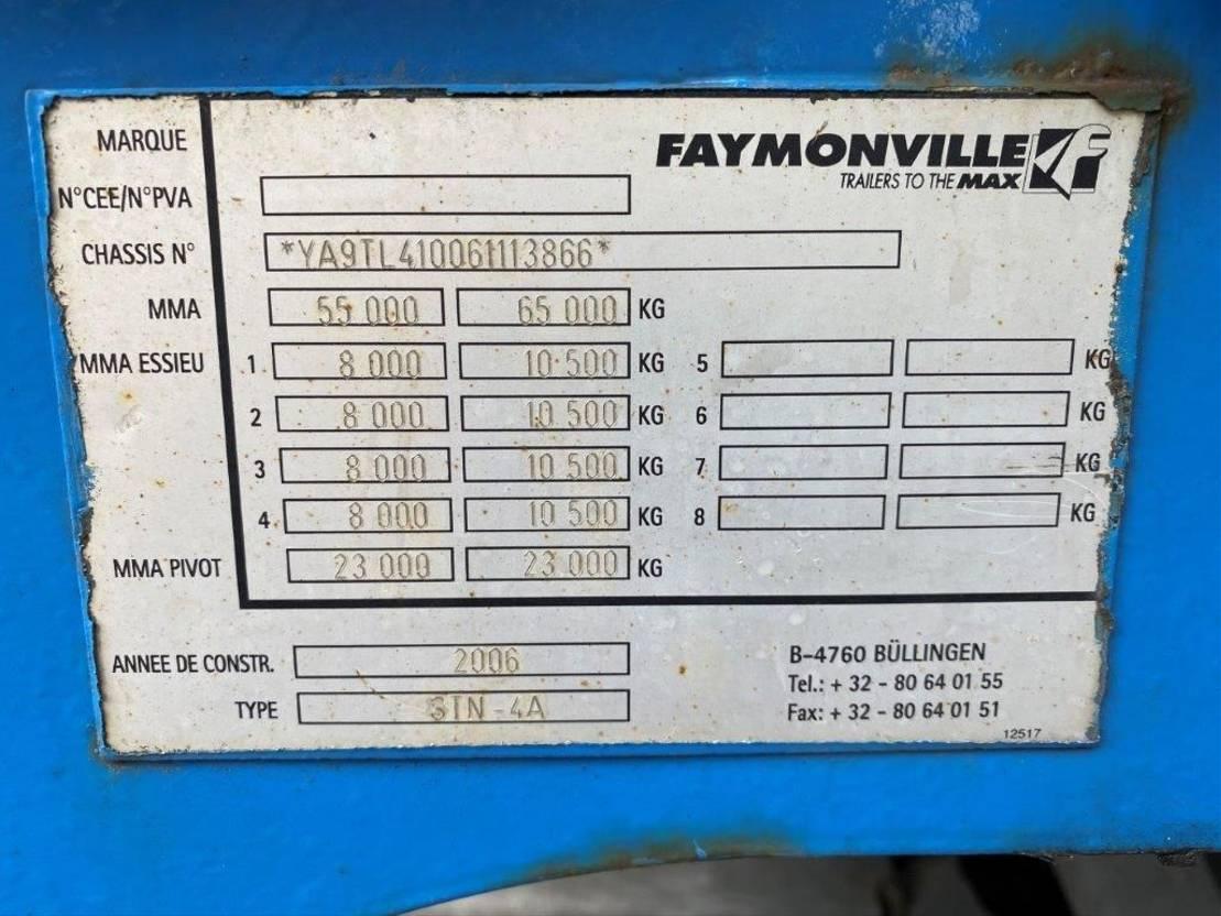 semi dieplader oplegger Faymonville STN-4A 2006