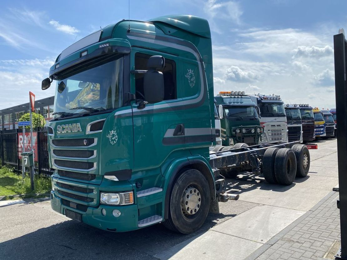 chassis cabine vrachtwagen Scania R520 V8 6X2 EURO 6 2014