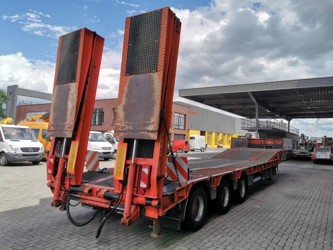 semi dieplader oplegger Goldhofer Hangler 3 STZL 30 Winch Ramps Bridge Powersteering! 2010
