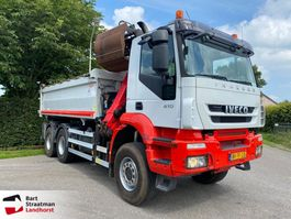 kipper vrachtwagen > 7.5 t Iveco Eurotrakker 380 AD380 T41W 6x6 kipper met Palfinger Z-kraan Euro 5 2010