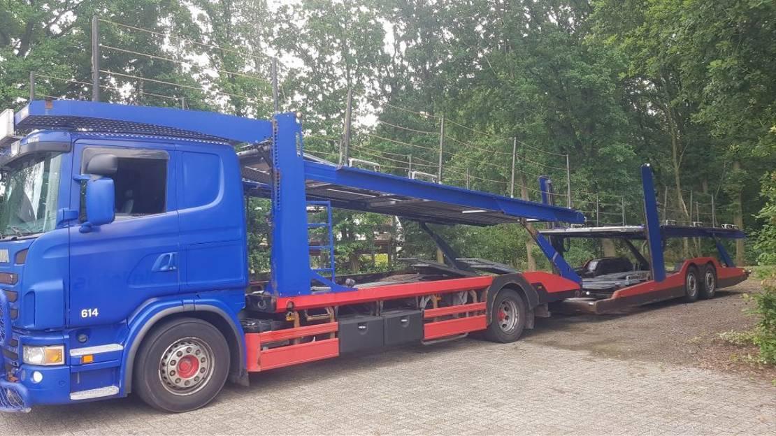 autotransporter vrachtwagen Scania G480 LB4X2MLB AUTOTRANSPORTER 2011