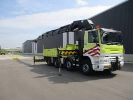 open laadbak vrachtwagen Ginaf X 4241 S 8X4 EURO 5 HMF THOR 80 TON METER+FLYJIP 2008