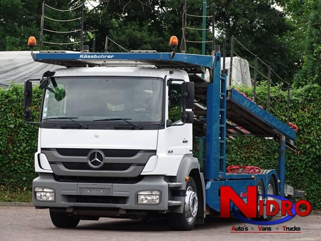 autotransporter vrachtwagen Mercedes-Benz Axor 1829 KASSBOHRER CITYTRANS 10.600kg LOADCAP 2012