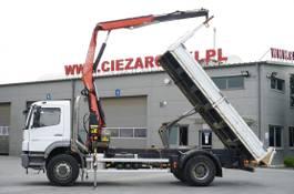 kipper vrachtwagen > 7.5 t Mercedes-Benz Axor 1829 , E5 , 120.000km , tipper + Crane Fassi , remote contr 2013