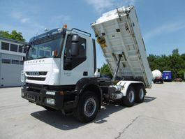 kipper vrachtwagen > 7.5 t Iveco Trakker 450 Euro 5 EEV Meiller Stahl 6x4 Blattfe 2012