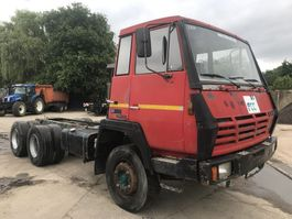 chassis cabine vrachtwagen Steyr 22S31 6x4 **6CYL-MANUAL PUMP-FULL STEEL** 1988