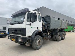 kipper vrachtwagen > 7.5 t Mercedes-Benz SK 2629 V8 crane MELLER 106RS big axel full steel suspension TOP CONDITION 1992