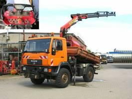 kipper vrachtwagen > 7.5 t MAN LE 10.220 LAK 2-Achs Allradkipper Kran Funk+Arbe 2002