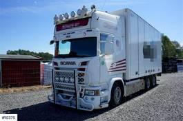 bakwagen vrachtwagen Scania R730 Streamline 6x4 box truck with side opening on 2016