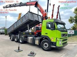 kipper vrachtwagen > 7.5 t Volvo FM 400 8x4 TRIDEM + KRAN PALFINGER PK23002 (5x) + RADIO - MANUAL GEARBOX 3+3 - HUB REDUCTION - LIFT + STEERING AXLE 2008