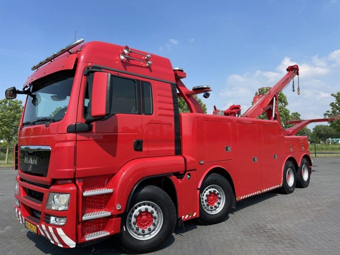 takelwagen-bergingswagen-vrachtwagen MAN TGS 42.480 8x4 EURO 5 MILLER VULCAN V70 ABSCHLEPP RECOVERY 2014