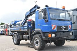 kipper vrachtwagen > 7.5 t MAN 10.163 4x4 Meiller Kran Atlas mit Greifer 3Sitze 1998