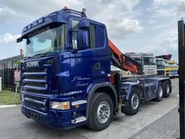 containersysteem vrachtwagen Scania R500 V8 8X4 + DAMAGED CRANE - PALFINGER PK29002 MET REMOTE 2008