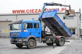kipper vrachtwagen > 7.5 t MAN TGM 18 , DOKKA 7 seats , A/C , tipper + crane PK , grapple + 2008